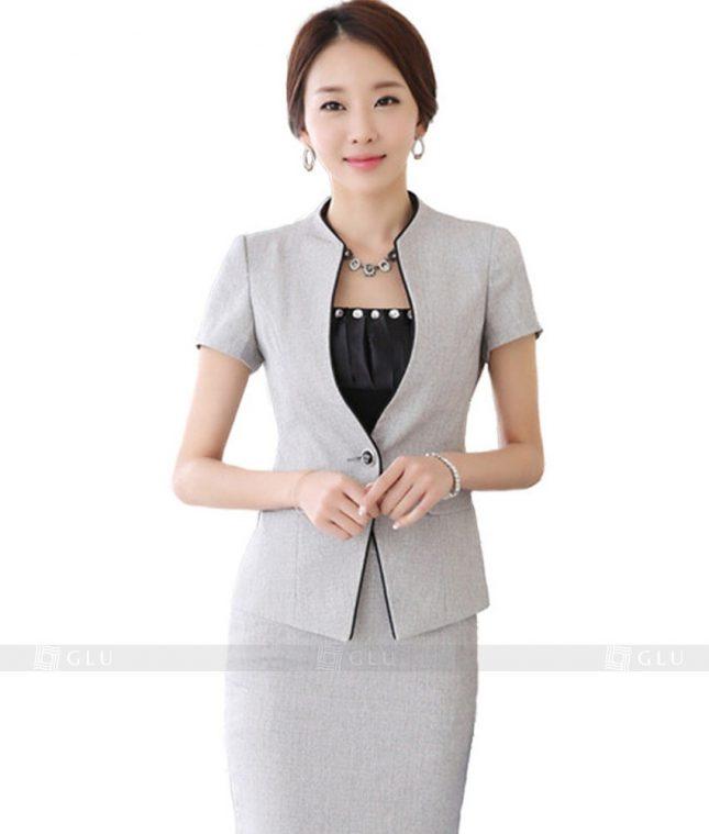 Ao Vest Dong Phuc Cong So GLU 101 áo sơ mi nữ đồng phục công sở