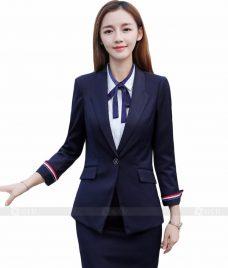 Ao Vest Dong Phuc Cong So GLU 104 Đồng Phục Công Sở