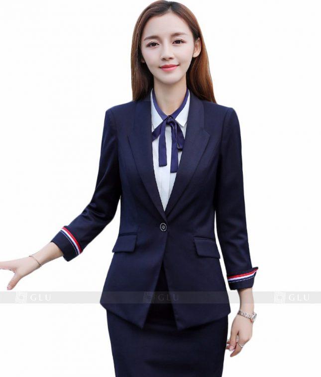 Ao Vest Dong Phuc Cong So GLU 104 áo sơ mi nữ đồng phục công sở