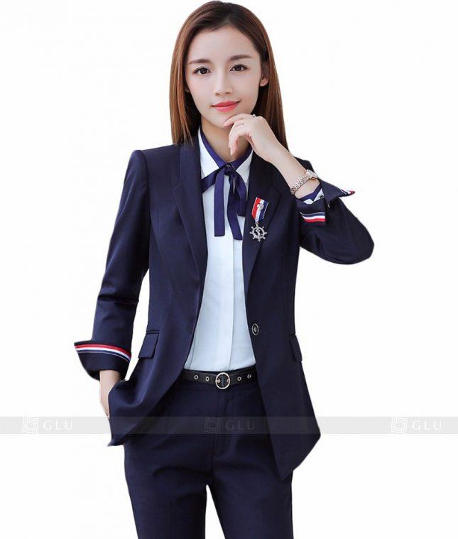 Ao Vest Dong Phuc Cong So GLU 105 áo sơ mi nữ đồng phục công sở