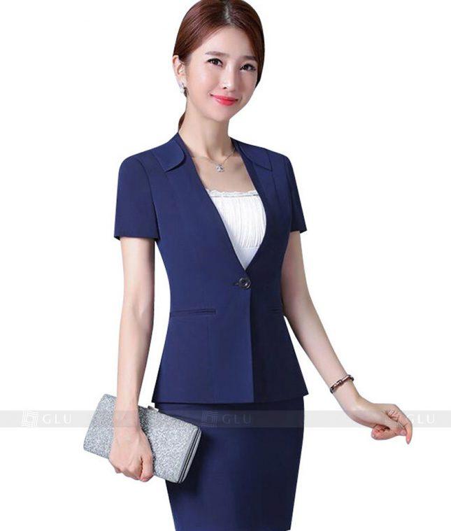Ao Vest Dong Phuc Cong So GLU 106 áo sơ mi nữ đồng phục công sở