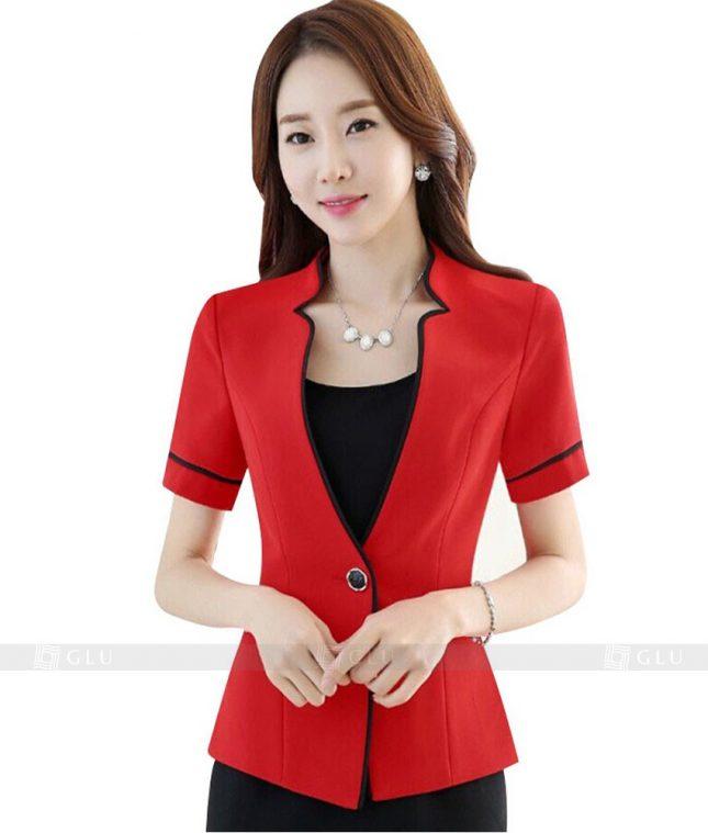 Ao Vest Dong Phuc Cong So GLU 107 áo sơ mi nữ đồng phục công sở