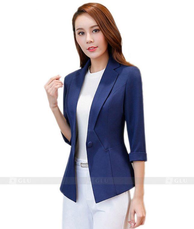 Ao Vest Dong Phuc Cong So GLU 108 áo sơ mi nữ đồng phục công sở