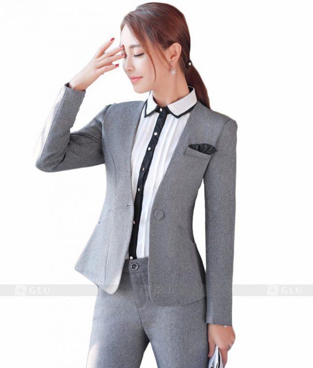 Ao Vest Dong Phuc Cong So GLU 111 áo sơ mi nữ đồng phục công sở
