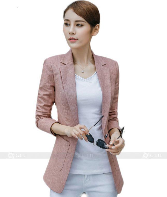 Ao Vest Dong Phuc Cong So GLU 112 áo sơ mi nữ đồng phục công sở