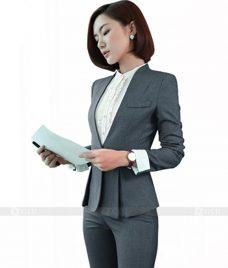 Ao Vest Dong Phuc Cong So GLU 113 Đồng Phục Công Sở