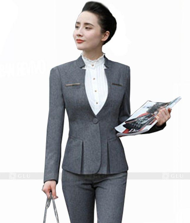 Ao Vest Dong Phuc Cong So GLU 114 áo sơ mi nữ đồng phục công sở