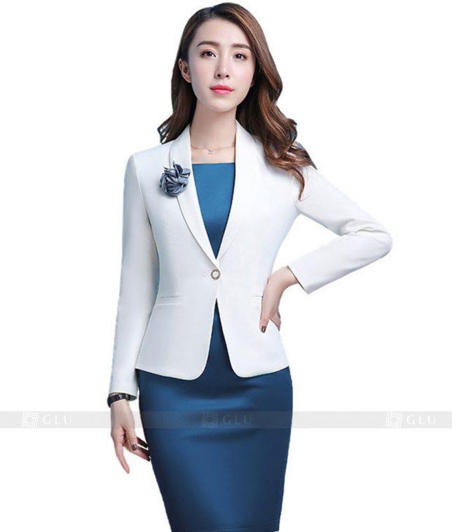 Ao Vest Dong Phuc Cong So GLU 117 áo sơ mi nữ đồng phục công sở