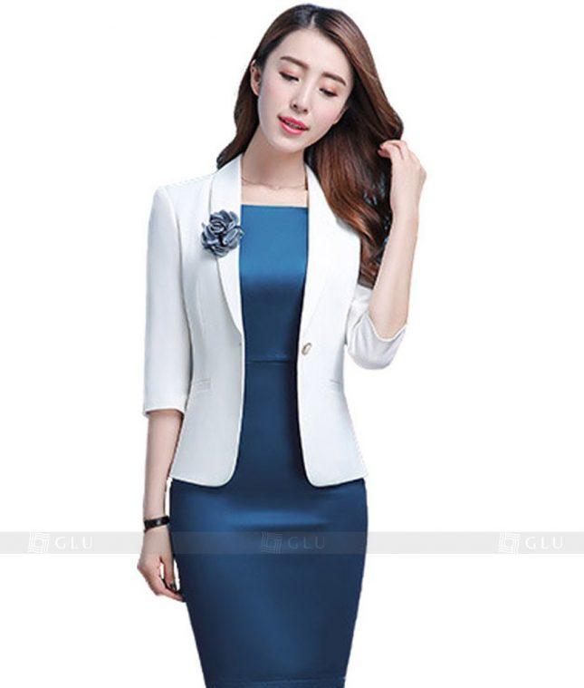 Ao Vest Dong Phuc Cong So GLU 118 áo sơ mi nữ đồng phục công sở