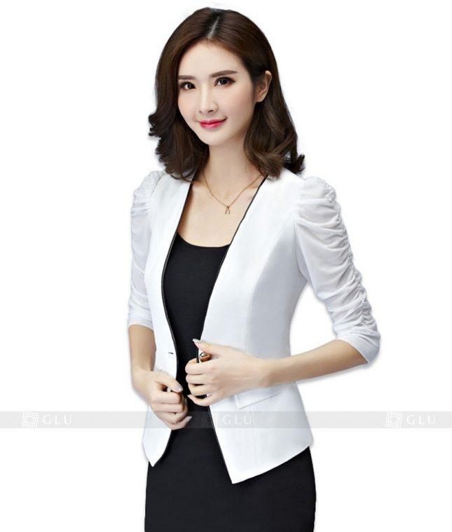 Ao Vest Dong Phuc Cong So GLU 120 áo sơ mi nữ đồng phục công sở