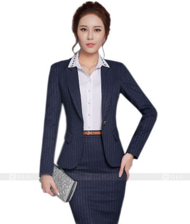 Ao Vest Dong Phuc Cong So GLU 123 áo sơ mi nữ đồng phục công sở