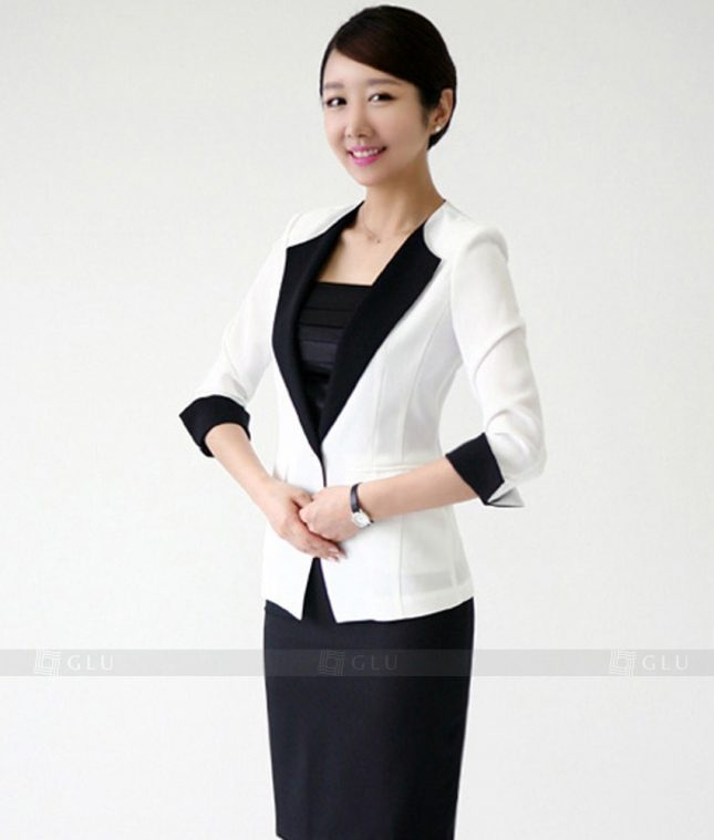 Ao Vest Dong Phuc Cong So GLU 124 áo sơ mi nữ đồng phục công sở