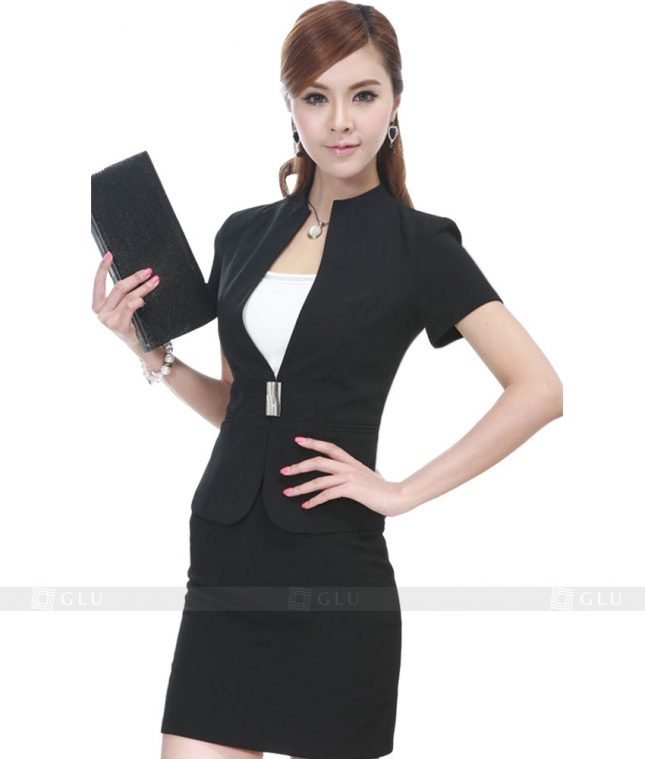 Ao Vest Dong Phuc Cong So GLU 131 áo sơ mi nữ đồng phục công sở