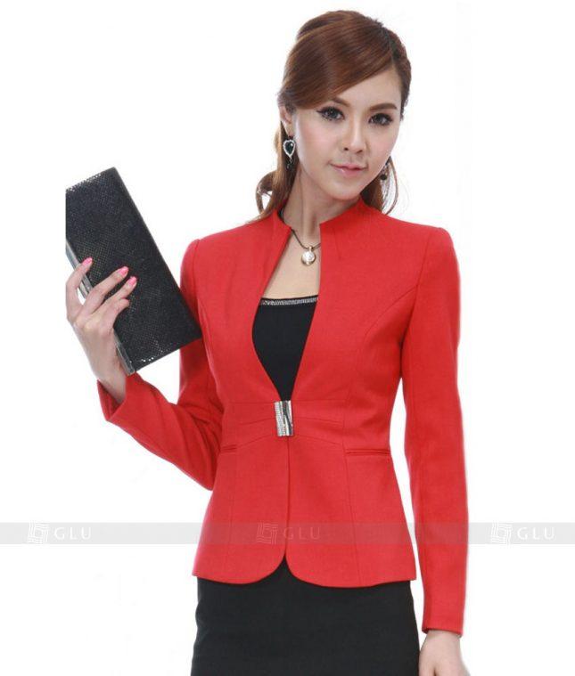 Ao Vest Dong Phuc Cong So GLU 132 áo sơ mi nữ đồng phục công sở