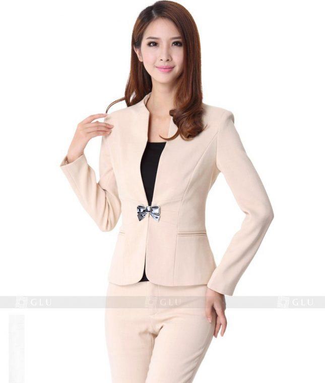 Ao Vest Dong Phuc Cong So GLU 141 áo sơ mi nữ đồng phục công sở