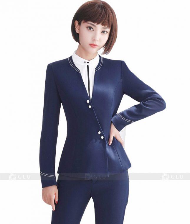 Ao Vest Dong Phuc Cong So GLU 150 áo sơ mi nữ đồng phục công sở
