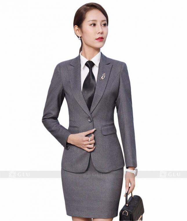 Ao Vest Dong Phuc Cong So GLU 153 áo sơ mi nữ đồng phục công sở