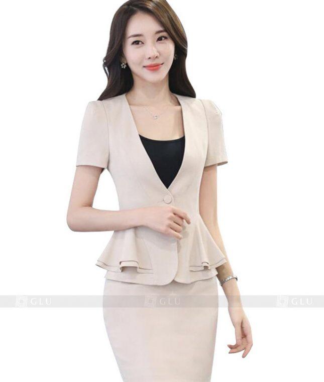Ao Vest Dong Phuc Cong So GLU 154 áo sơ mi nữ đồng phục công sở