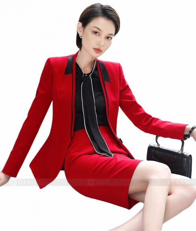 Ao Vest Dong Phuc Cong So GLU 155 áo sơ mi nữ đồng phục công sở
