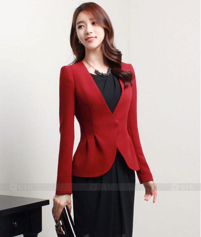 Ao Vest Dong Phuc Cong So GLU 157 áo sơ mi nữ đồng phục công sở