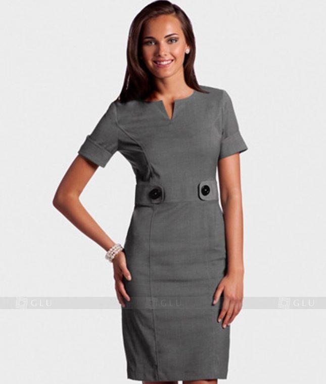 Ao Vest Dong Phuc Cong So GLU 163 áo sơ mi nữ đồng phục công sở