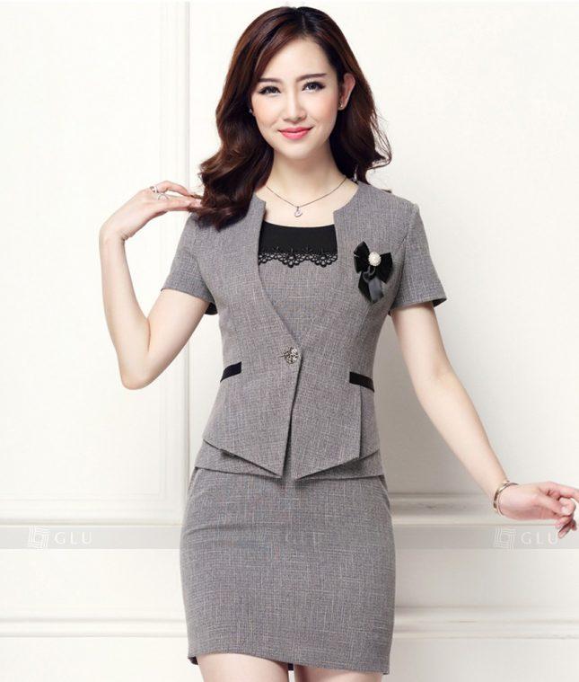 Ao Vest Dong Phuc Cong So GLU 170 áo sơ mi nữ đồng phục công sở