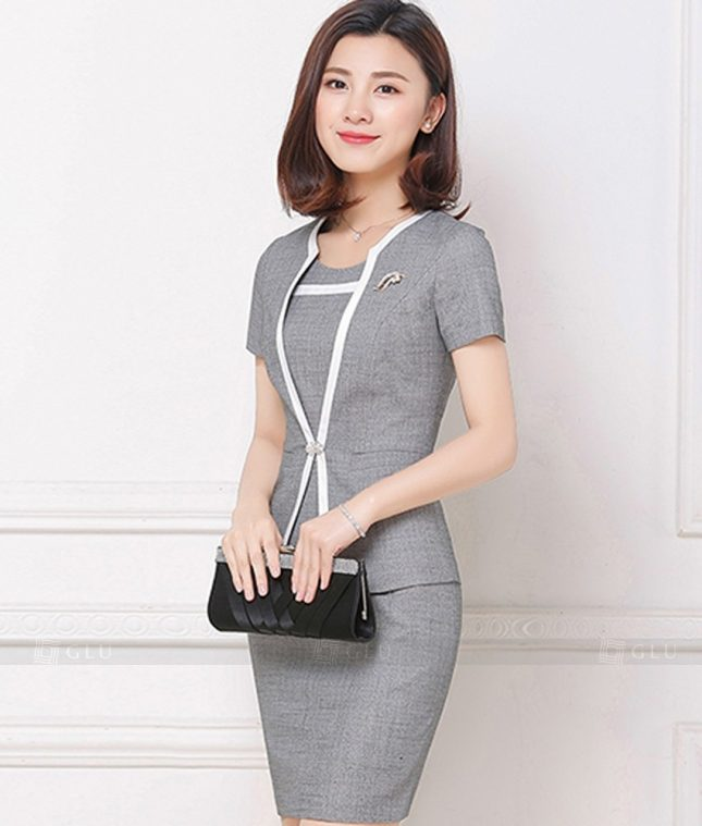 Ao Vest Dong Phuc Cong So GLU 171 áo sơ mi nữ đồng phục công sở