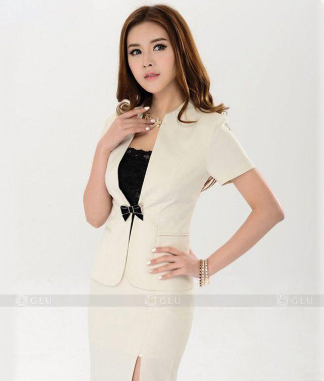 Ao Vest Dong Phuc Cong So GLU 176 áo sơ mi nữ đồng phục công sở