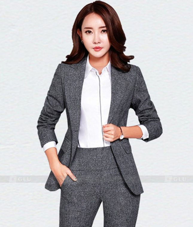 Ao Vest Dong Phuc Cong So GLU 177 áo sơ mi nữ đồng phục công sở