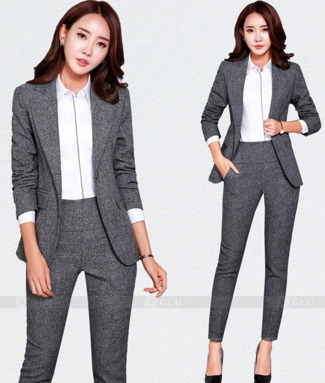Ao Vest Dong Phuc Cong So GLU 179 áo sơ mi nữ đồng phục công sở