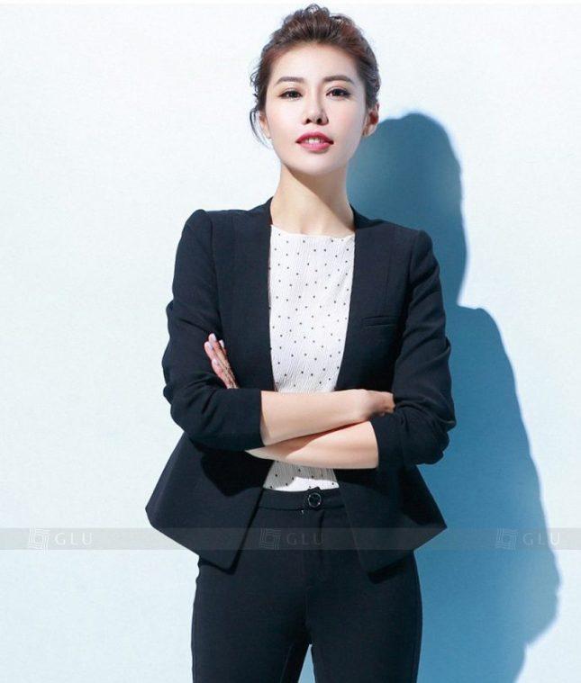 Ao Vest Dong Phuc Cong So GLU 180 áo sơ mi nữ đồng phục công sở