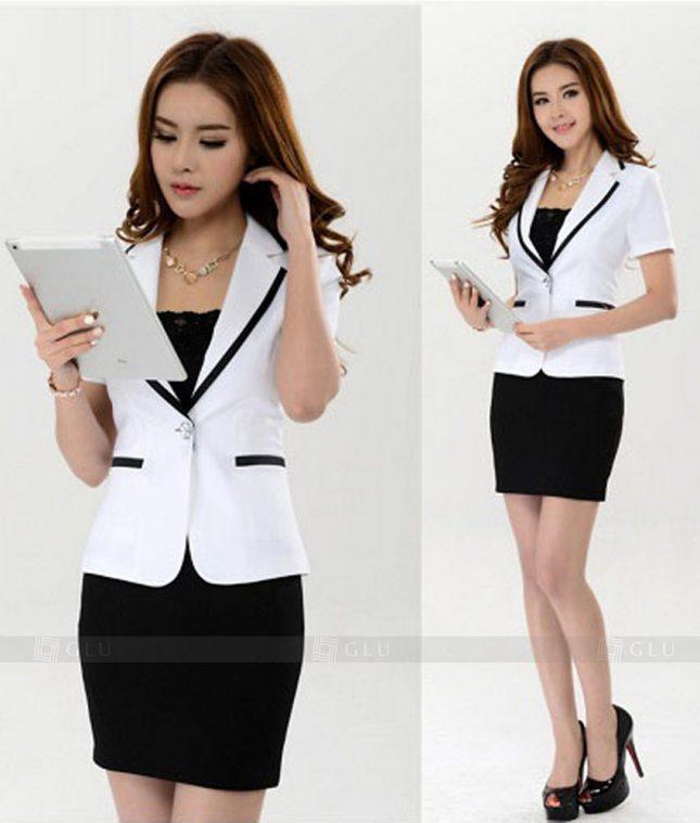 Ao Vest Dong Phuc Cong So GLU 181 áo sơ mi nữ đồng phục công sở