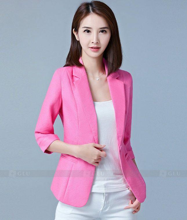 Ao Vest Dong Phuc Cong So GLU 184 áo sơ mi nữ đồng phục công sở