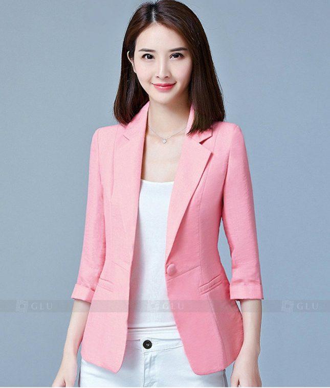 Ao Vest Dong Phuc Cong So GLU 185 áo sơ mi nữ đồng phục công sở