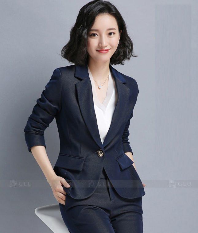 Ao Vest Dong Phuc Cong So GLU 189 áo sơ mi nữ đồng phục công sở