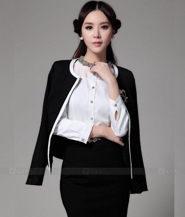 Ao Vest Dong Phuc Cong So GLU 191 áo sơ mi nữ đồng phục công sở
