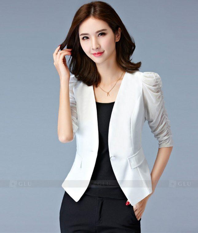 Ao Vest Dong Phuc Cong So GLU 195 áo sơ mi nữ đồng phục công sở