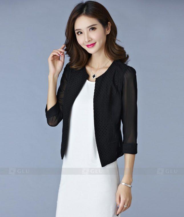 Ao Vest Dong Phuc Cong So GLU 196 áo sơ mi nữ đồng phục công sở