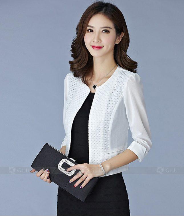 Ao Vest Dong Phuc Cong So GLU 197 áo sơ mi nữ đồng phục công sở