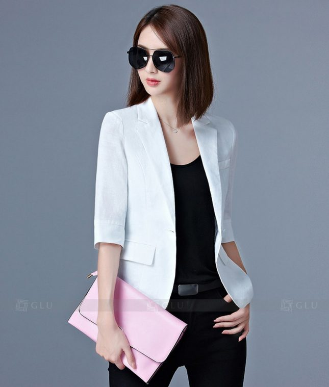 Ao Vest Dong Phuc Cong So GLU 199 áo sơ mi nữ đồng phục công sở