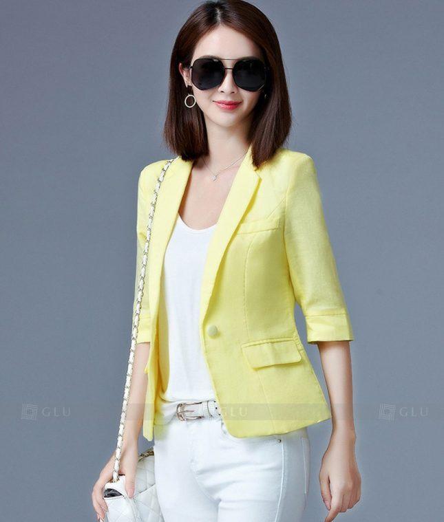 Ao Vest Dong Phuc Cong So GLU 200 áo sơ mi nữ đồng phục công sở