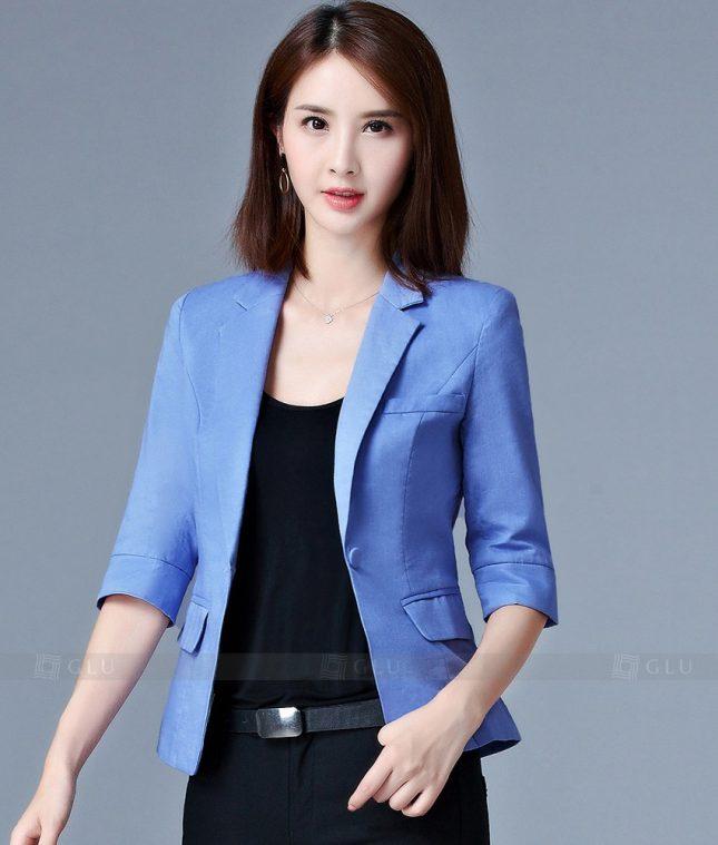 Ao Vest Dong Phuc Cong So GLU 201 áo sơ mi nữ đồng phục công sở