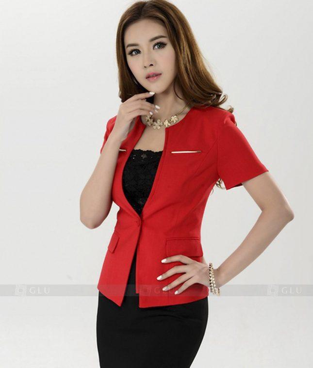 Ao Vest Dong Phuc Cong So GLU 215 áo sơ mi nữ đồng phục công sở