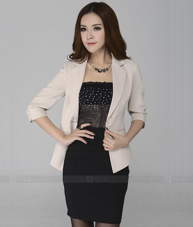 Ao Vest Dong Phuc Cong So GLU 216 áo sơ mi nữ đồng phục công sở