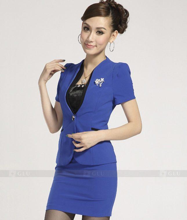 Ao Vest Dong Phuc Cong So GLU 218 áo sơ mi nữ đồng phục công sở