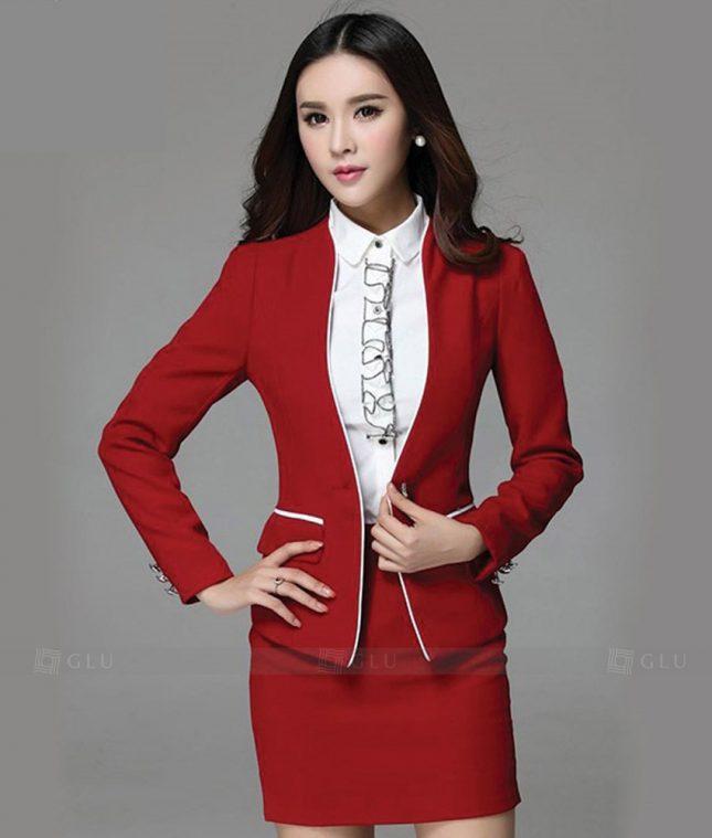 Ao Vest Dong Phuc Cong So GLU 227 áo sơ mi nữ đồng phục công sở