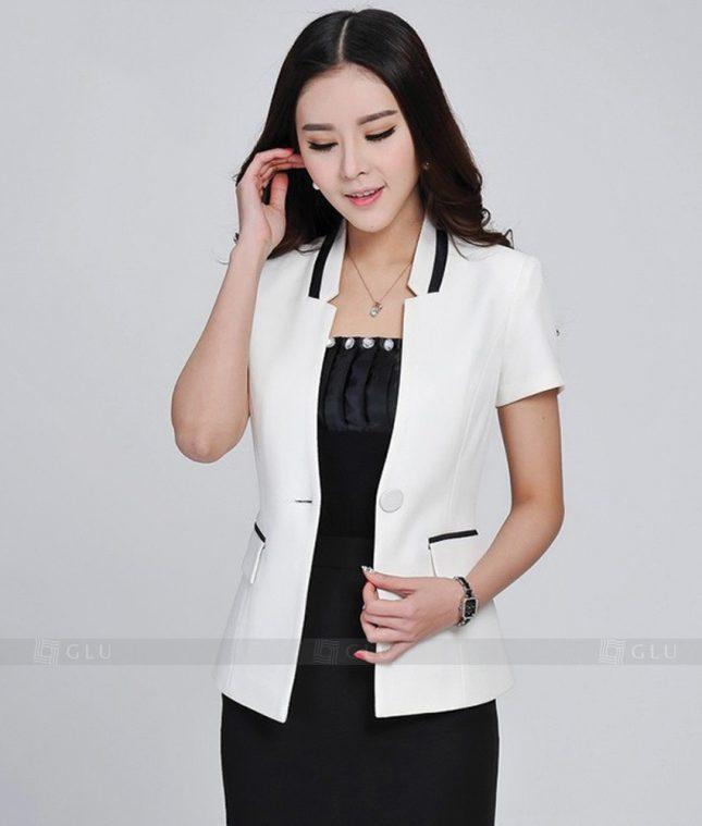 Ao Vest Dong Phuc Cong So GLU 228 áo sơ mi nữ đồng phục công sở
