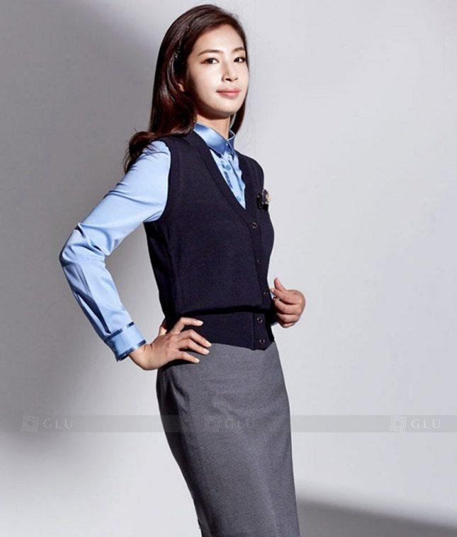 Ao Vest Dong Phuc Cong So GLU 235 áo sơ mi nữ đồng phục công sở