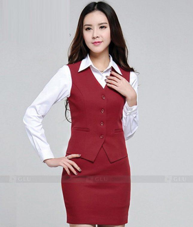 Ao Vest Dong Phuc Cong So GLU 236 áo sơ mi nữ đồng phục công sở