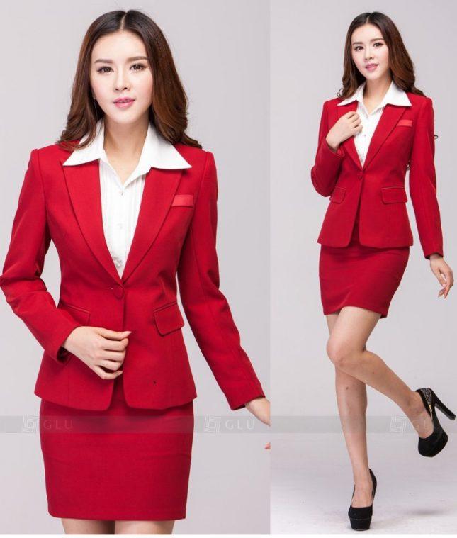 Ao Vest Dong Phuc Cong So GLU 238 áo sơ mi nữ đồng phục công sở
